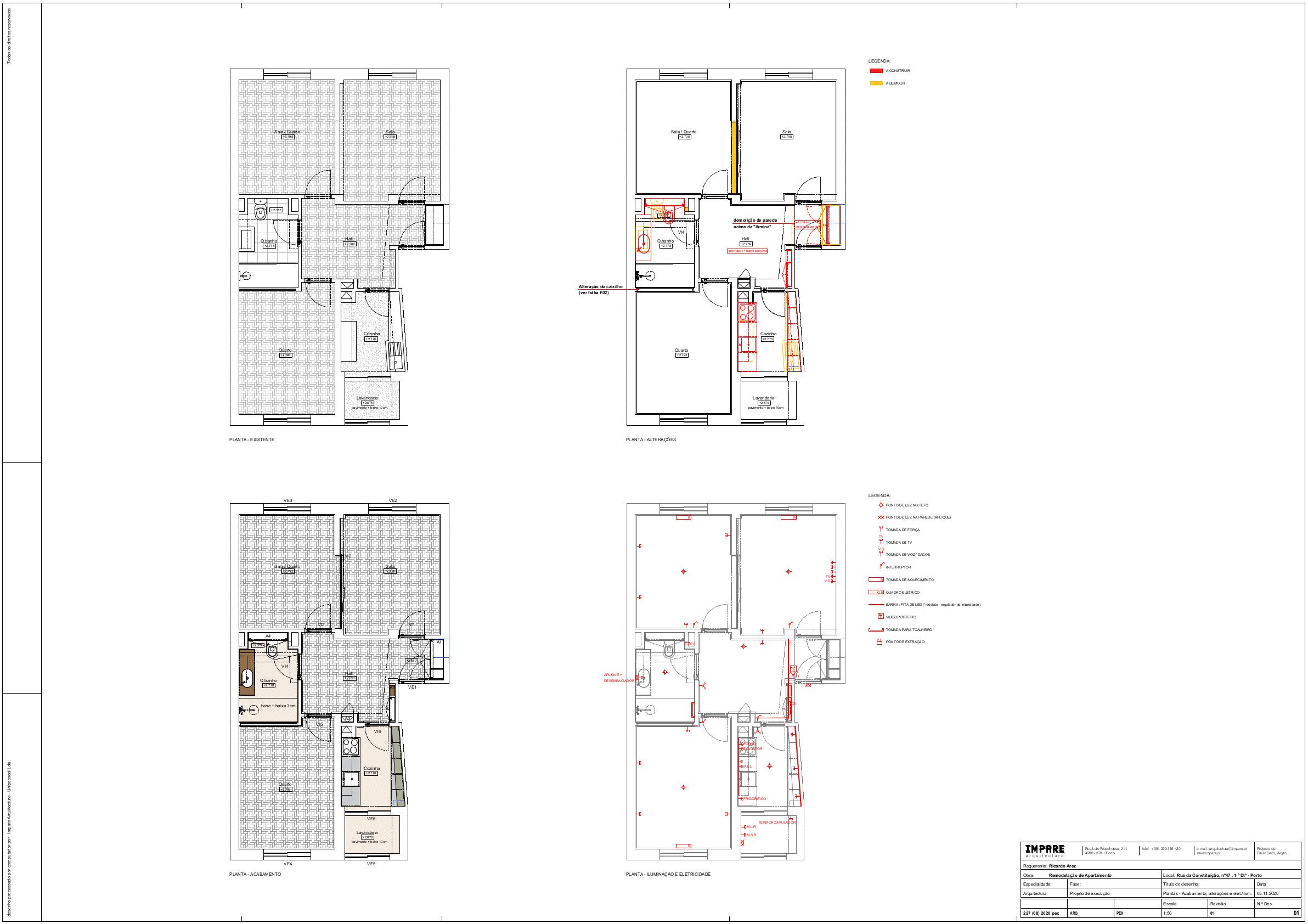 Impare_Arquitectura F01 - Plantas I Acabamento, Alterações, Iluminação e Eletricidade - pex50